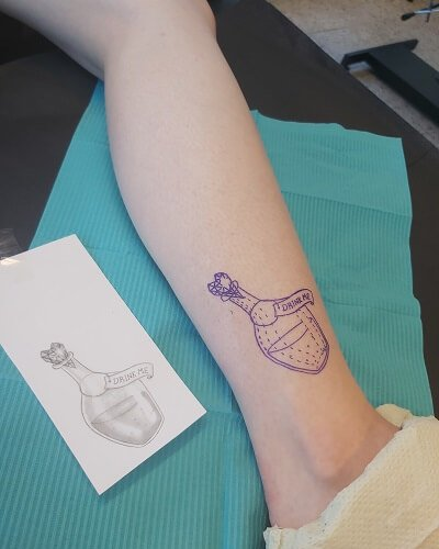 Elinan eka tatuonti tulee tähän