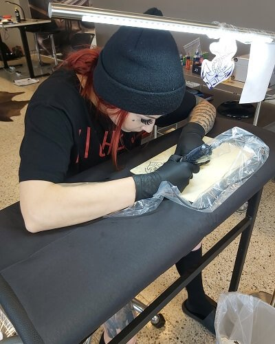 Marin tatuointi harjoitus