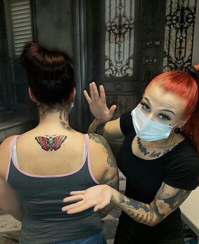 Perhos tatuointi valmistui