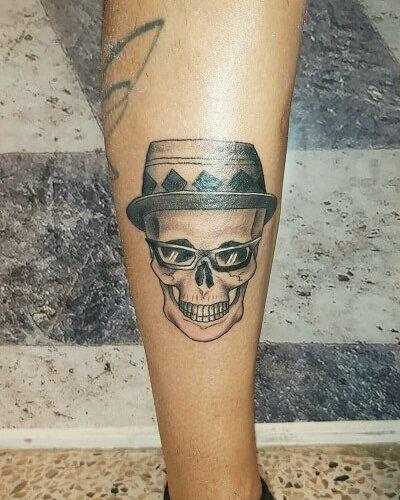 Skull tattoo is ready